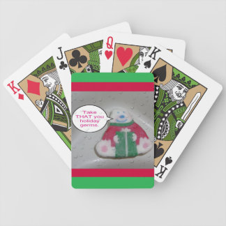Soap Holiday Germs Humor Cartoon Bicycle Playing Cards