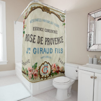 soap label 3 shower curtain