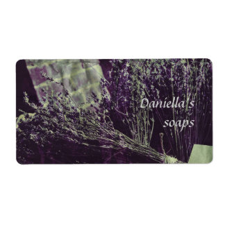 Soap label - lavender