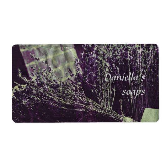 Soap label - lavender