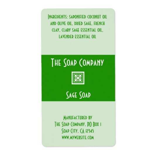 Soap Label - Sage Green Shipping Label