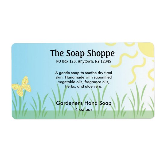 Soap Product Label - Garden Shipping Label