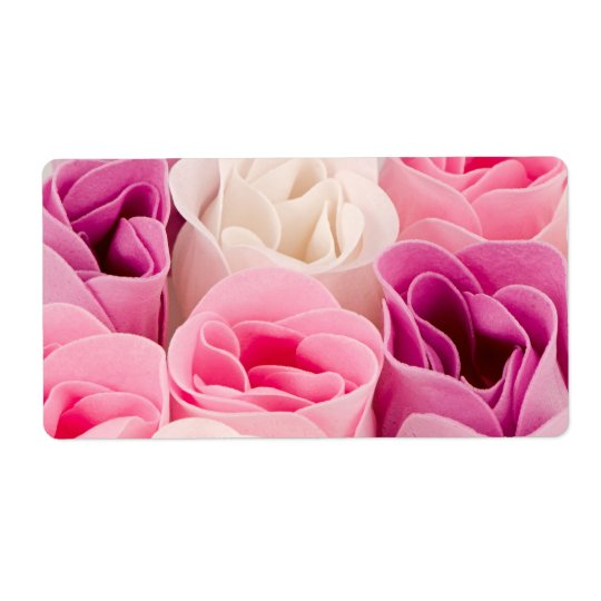 Soap roses shipping label
