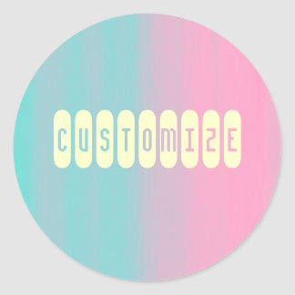 Soap - Template Classic Round Sticker