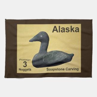 Soapstone Eider Duck Hand Towels