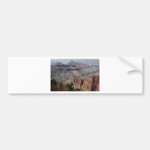Soar beyond your wildest expectations,Grand Canyon Bumper Stickers
