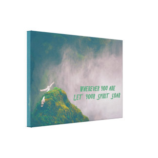 """Soar"" Inspirational Wrapped Canvas Art"