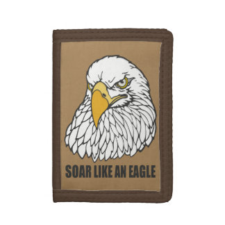 Soar Like an Eagle Tri-fold Wallets