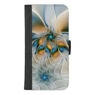 Soaring, Abstract Fantasy Fractal Art With Blue Case
