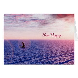 soaring eagle bon voyage greeting card