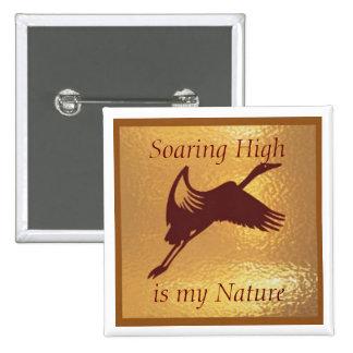 Soaring High Bird - Medal Icon Gold Base Pin