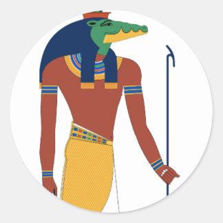 Sobek Crocodile  God Classic Round Sticker