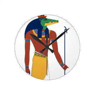Sobek Crocodile  God Round Clock
