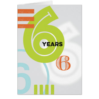 Sober Alcoholic Anniversary Card: 6 Years Card