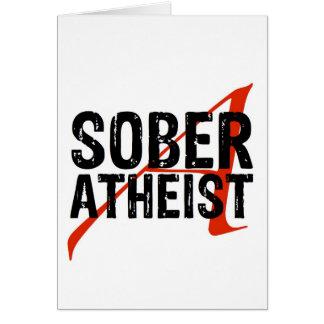 Sober Atheist Card
