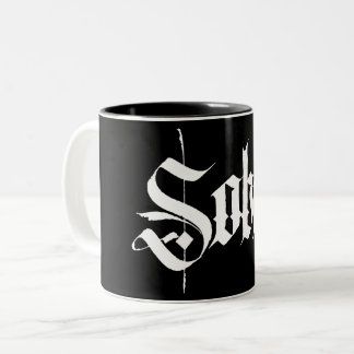 Sober Calligraphy Coffee Mug