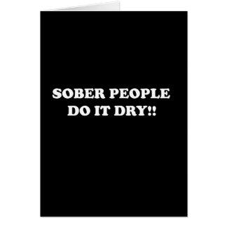 sober card