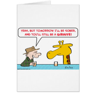 sober giraffe card