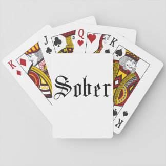 Sober, Gothic - Playing Cards