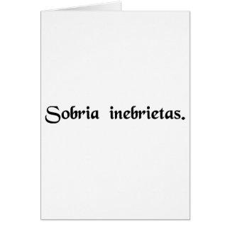 Sober intoxication. card