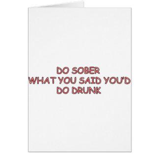 SOBER OR DRUNK CARD