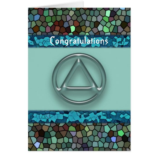 Sober Recovery AA Anniversary Congratulations Card