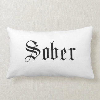 Sober Throw Pillow