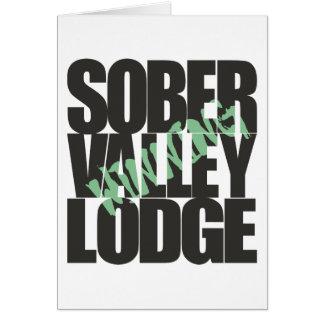 Sober Valley Lodge Winning Card