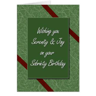 Sobriety Birthday Card