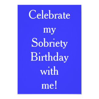Sobriety Birthday Invitations