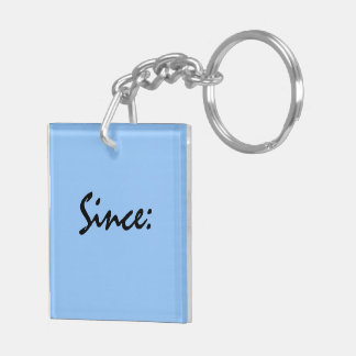 Sobriety Date Key Tag Key Ring