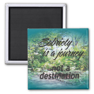 sobriety is a journey 16 magnet