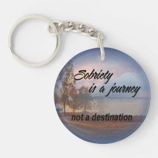 sobriety is a journey keychain 15c