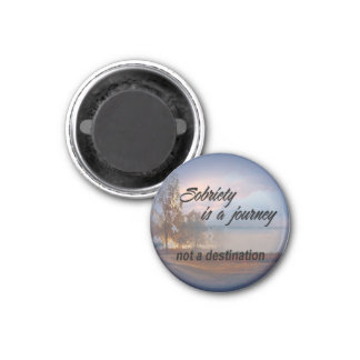 sobriety is a journey round magnet