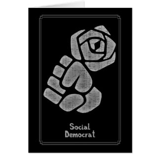 Soc Dem Rose Fist Card