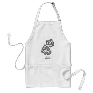 Soc Dem Rose Fist Standard Apron