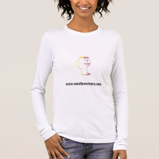SoCal Brewinery Ladies Fitted Long Sleeve (White) Long Sleeve T-Shirt