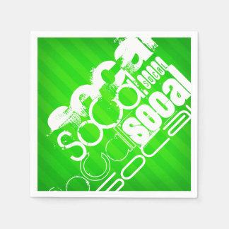 SoCal; Neon Green Stripes Paper Napkin
