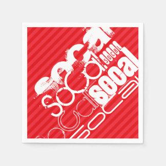 SoCal; Scarlet Red Stripes Paper Napkin