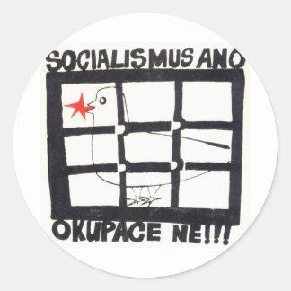 SocAnoOkNe (public domain) Round Sticker
