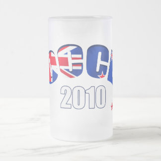 Soccer 2010 New Zealand football gifts Frosted Glass Beer Mug