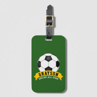 Soccer All-Star Luggage Tag