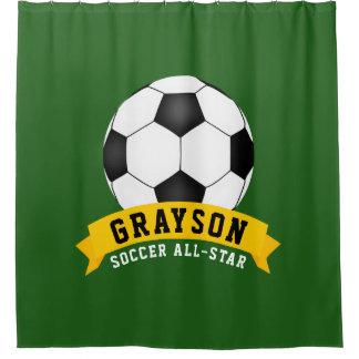 Soccer All-Star Shower Curtain