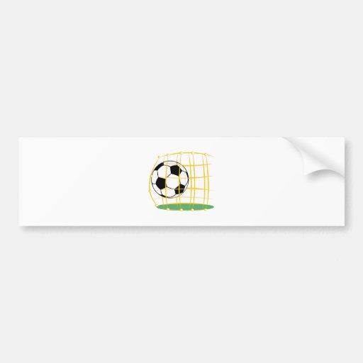Soccer And Net Bumper Sticker
