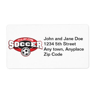 Soccer Attitude Shipping Label