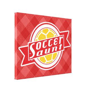 Soccer Aunt Box Canvas Canvas Print
