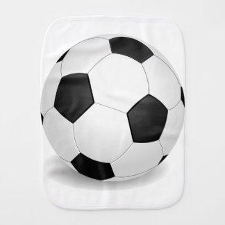 soccer babys burp cloth
