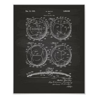 Soccer Ball 1932 Patent Art Poster