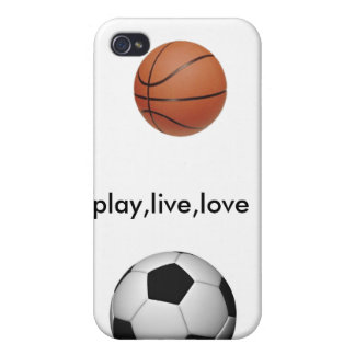soccer-ball, 220px-Basketball, play,live,love Covers For iPhone 4