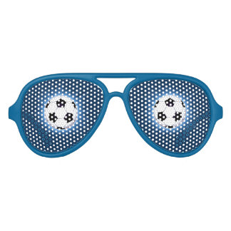 Soccer Ball Adult Aviator Party Shades